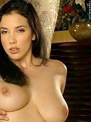 Jelena Jensen in Large Natural Breasts Babe in Negligee